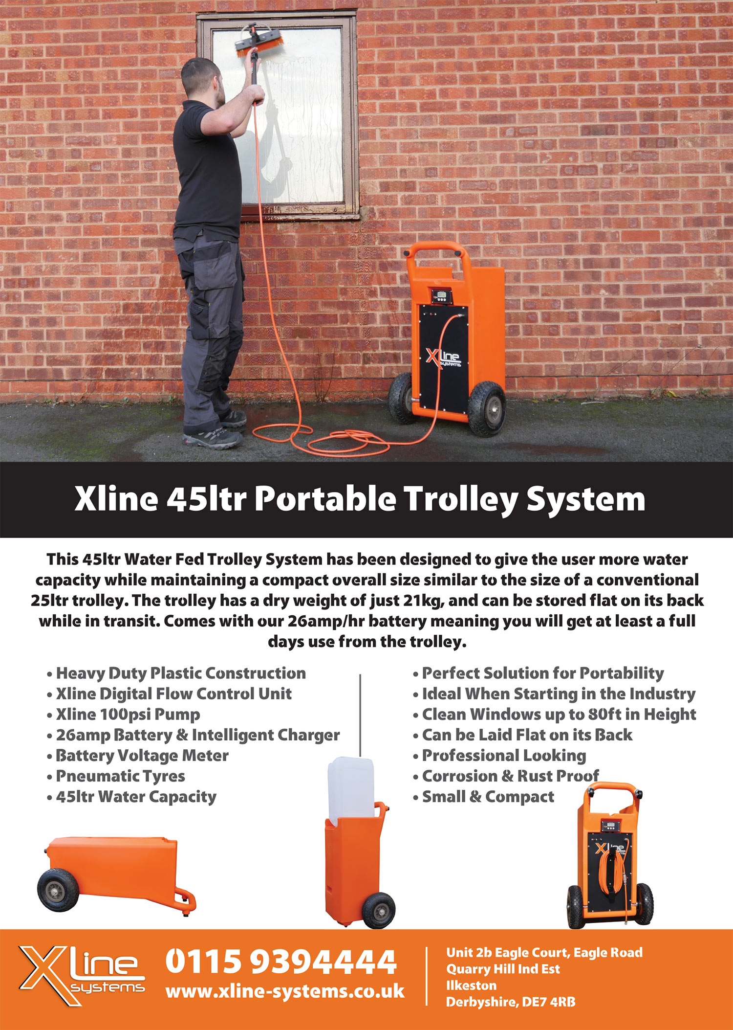 Xline 45ltr Trolley Flyer