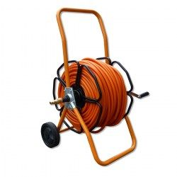 metal wheeled hose reel for window cleaning
