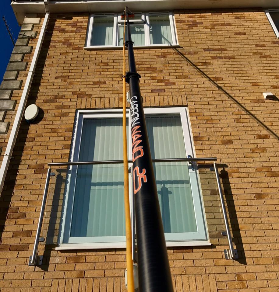 18ft Carbon Nano Water Fed Pole Under 800 Grams Very Rigid