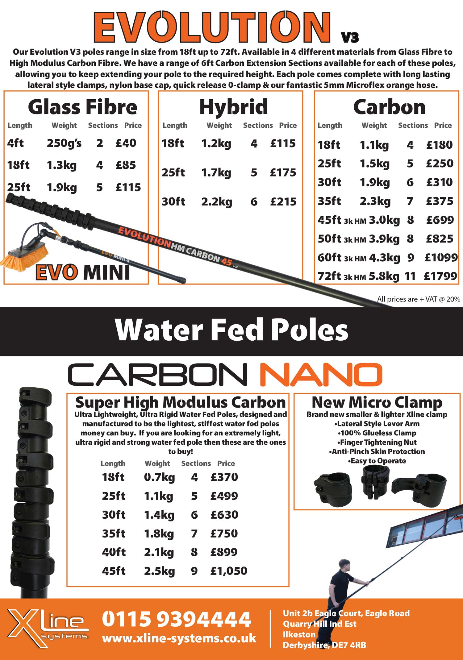 Carbon Fiber 45 Ft! Window Cleaning Water Fed Pole Cleaning & Janitorial Supplies Business & Industrial