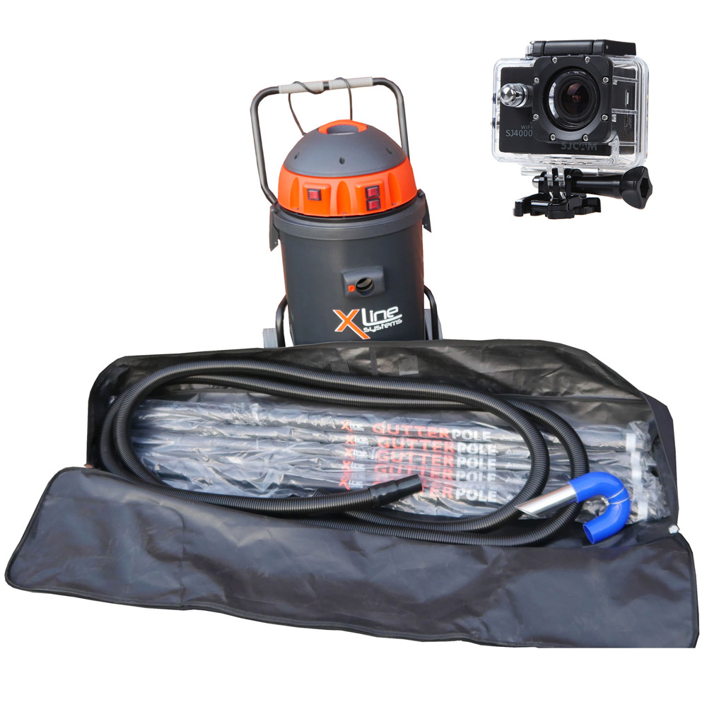 Xline 3500w Gutter Vac 30ft Carbon Poles Hd Camera Package