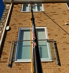 25ft Ultra Lightweight - Ultra Rigid Water Fed Pole for Window Cleaning