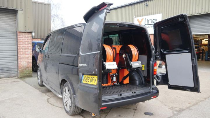 VW Transporter - 350ltr 2 Man Hot Water Automated R/O X-Tank System with Electric Reels